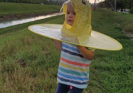 Pelerina ploaie marca UFO, marimea S, galbena